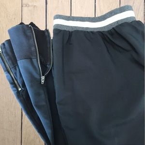 Lisa Rinna Dressy Joggers Cropped Black Size 20W